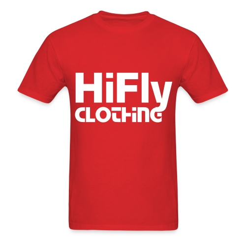 Official HiFlyClothing Red Tee - Men's T-Shirt