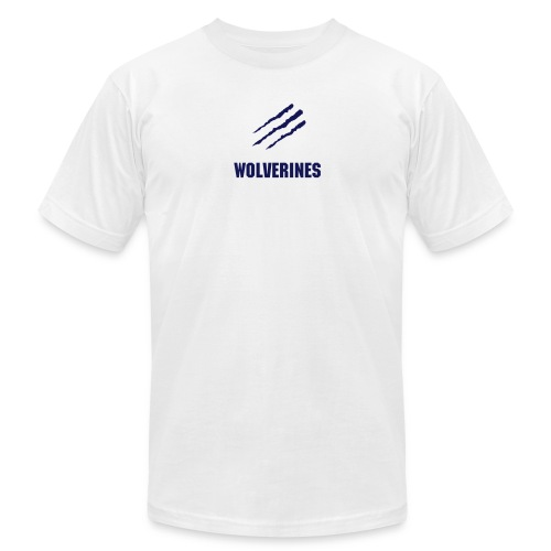 Wolverines T-Shirt - Blue Graphic - Men's Fine Jersey T-Shirt