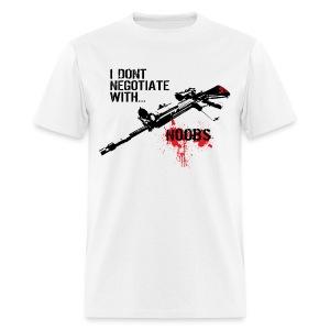 I don't negotiate with...NOOBS - Men's T-Shirt