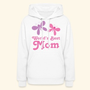 World's Best Mom (Butterflies) Womens Hoodie | MainstreetshirtKids - Women's Hoodie
