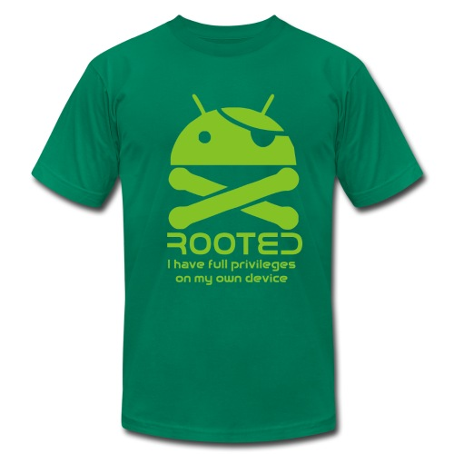 android rooted - Men's Fine Jersey T-Shirt