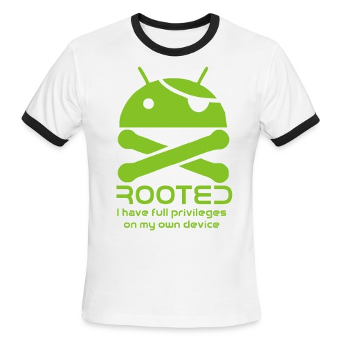 android rooted - Men's Ringer T-Shirt