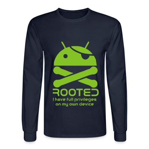 android rooted - Men's Long Sleeve T-Shirt