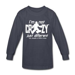I'm Not Crazy (field hockey) Kids' Long Sleeve T-Shirt - Kids' Long Sleeve T-Shirt