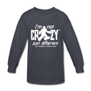 I'm Not Crazy (field hockey) Kids' Long Sleeve T-Shirt - Kids' Long Sleeve T-Shirt