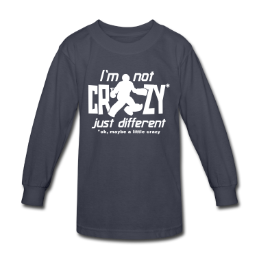 I'm Not Crazy (field hockey) Kids' Shirts