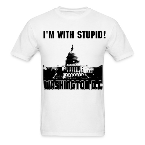 I'm with stupid! - Men's T-Shirt