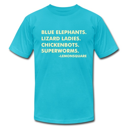 BLUE ELEPHANTS (M) - Men's Fine Jersey T-Shirt