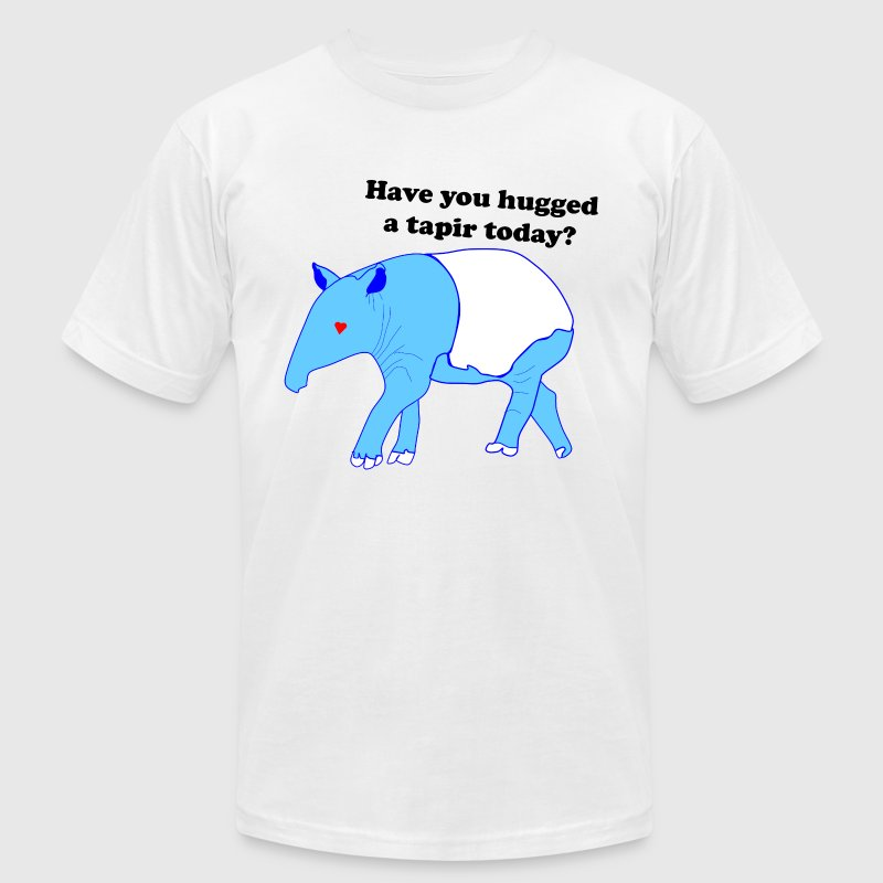 Have you hugged a tapir today? - Men's T-Shirt by American Apparel
