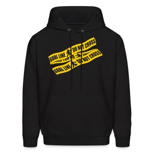 Goal Line Do Not Cross (field hockey) Men's Hoodie - Men's Hoodie