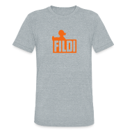 T-Shirts ~ Unisex Tri-Blend T-Shirt ~ FILDI  - Men's TriBlend AA - Orange on Grey