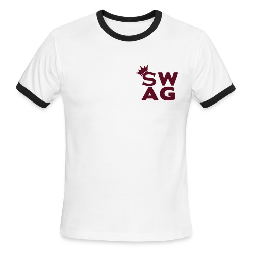 S.W.A.G Soldier With A Goal - Men's Ringer T-Shirt