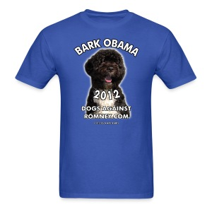 Official Dogs Against Romney Bark Obama Men's Tee - Men's T-Shirt