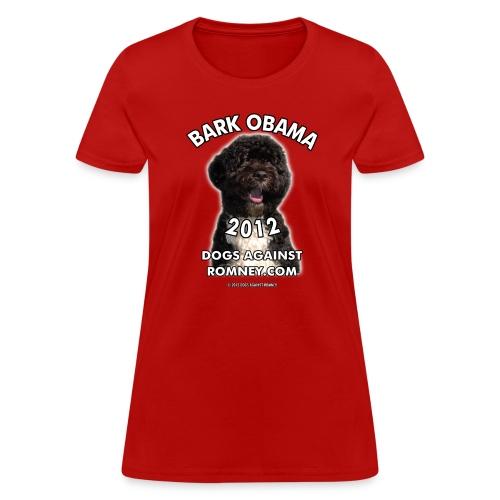 Official Dogs Against Romney Bark Obama Women's Tee - Women's T-Shirt