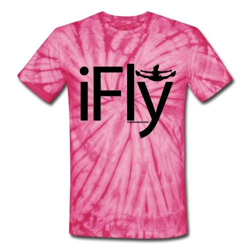 IFLY CHEERLEADING T SHIRT - Unisex Tie Dye T-Shirt