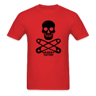 T-Shirts ~ Men's T-Shirt ~ mens Skull n Safety Pins SmarmyClothes tee