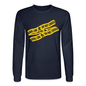 Goal Line Do Not Cross (field hockey) Men's Long Sleeve T-Shirt - Men's Long Sleeve T-Shirt
