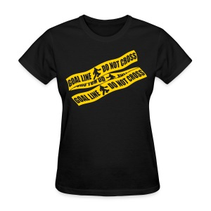 Goal Line Do Not Cross (field hockey) Women's Standard Weight T-Shirt - Women's T-Shirt