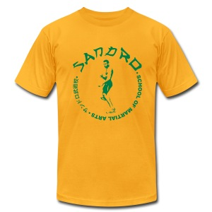 Sandro - School of Martial Arts (Yellow and Green) - Men's T-Shirt by American Apparel