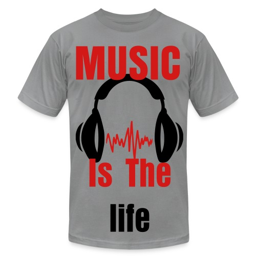 music is the life - Men's Fine Jersey T-Shirt