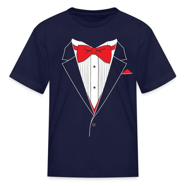 Funny Tuxedo T Shirt Youth