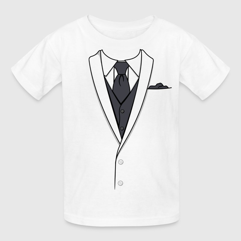 Fake white tuxedo t shirt spreadshirt for Make your own tuxedo t shirt