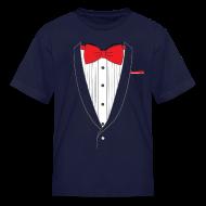 Kids' Shirts ~ Kids' T-Shirt ~ Tuxedo T Shirt Classic Red Tie Youth
