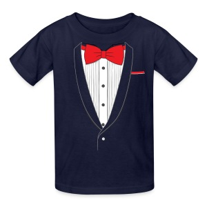 Tuxedo T Shirt Classic Red Tie Youth - Kids' T-Shirt