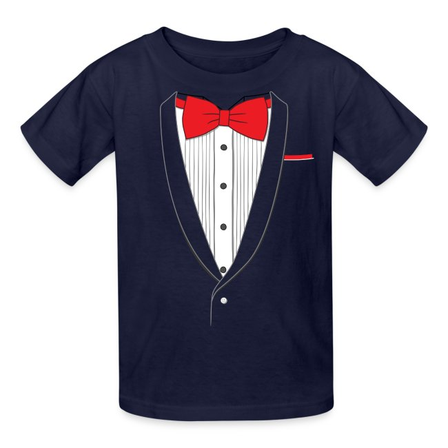 Tuxedo T Shirt Classic Red Tie Youth