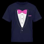 Kids' Shirts ~ Kids' T-Shirt ~ Tuxedo T Shirt Classic Pink Tie Youth