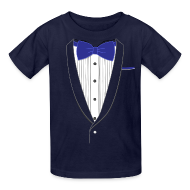 Kids' Shirts ~ Kids' T-Shirt ~ Tuxedo T Shirt Classic Navy Tie Youth