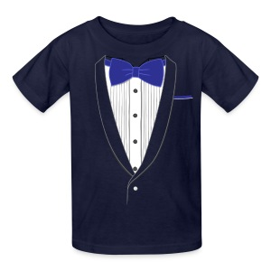 Tuxedo T Shirt Classic Navy Tie Youth - Kids' T-Shirt