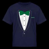Kids' Shirts ~ Kids' T-Shirt ~ Tuxedo T Shirt Classic Green Tie Youth
