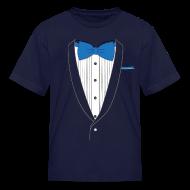 Kids' Shirts ~ Kids' T-Shirt ~ Tuxedo T Shirt Classic Blue Tie Youth