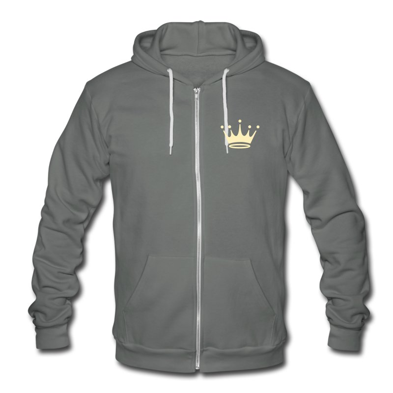 M.S.S.  Royal design Crest Fleece Hoodie. - Unisex Fleece Zip Hoodie by American Apparel