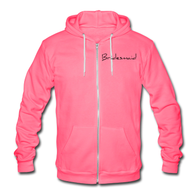 Bridesmaid Text Word Graphic Design Picture Vector Zip Hoodies/Jackets