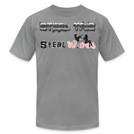 T-Shirts ~ Men's T-Shirt by American Apparel ~ Steel Tris Steel Wives