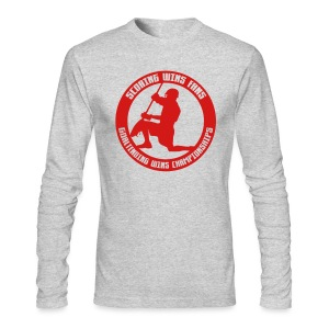 Goaltending Wins Championships (lax) Long Sleeve T-Shirt - Men's Long Sleeve T-Shirt by Next Level