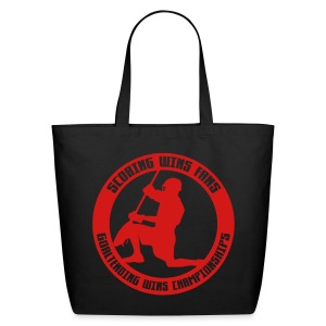 Goaltending Wins Championships (lax) Tote Bag - Eco-Friendly Cotton Tote