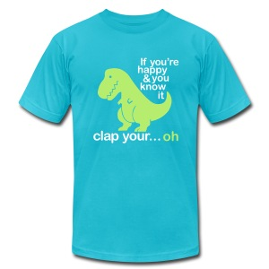 Poor Dinosaur :( - Men's T-Shirt by American Apparel