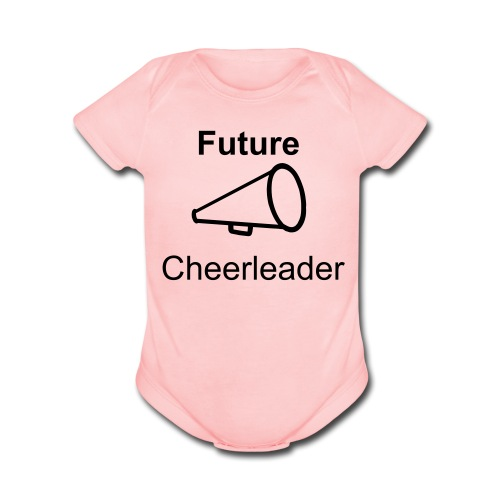 Future Cheerleader   - Organic Short Sleeve Baby Bodysuit