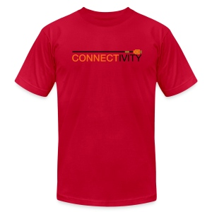 Connectivity Logo T-Shirt (Premium) - Men's T-Shirt by American Apparel