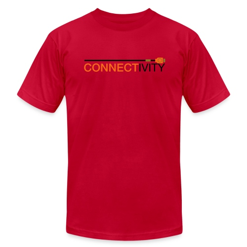 Connectivity Logo T-Shirt (Premium) - Men's Fine Jersey T-Shirt