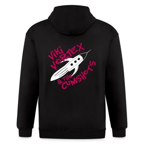 Viki Vortex Hood Sweatshirt Pink n White - Men's Zip Hoodie