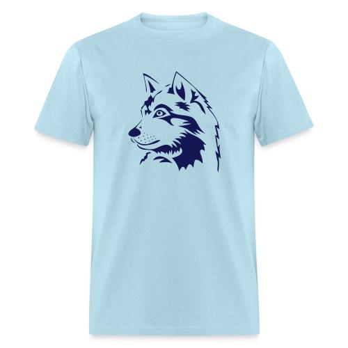 animal t-shirt wolf wolves pack hunter predator howling wild wilderness dog husky malamut - Men's T-Shirt