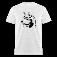 T-Shirts ~ Men's T-Shirt ~ animal t-shirt wolf wolves pack hunter predator howling wild wilderness dog husky malamut