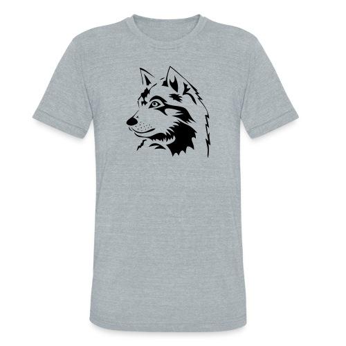animal t-shirt wolf wolves pack hunter predator howling wild wilderness dog husky malamut - Unisex Tri-Blend T-Shirt