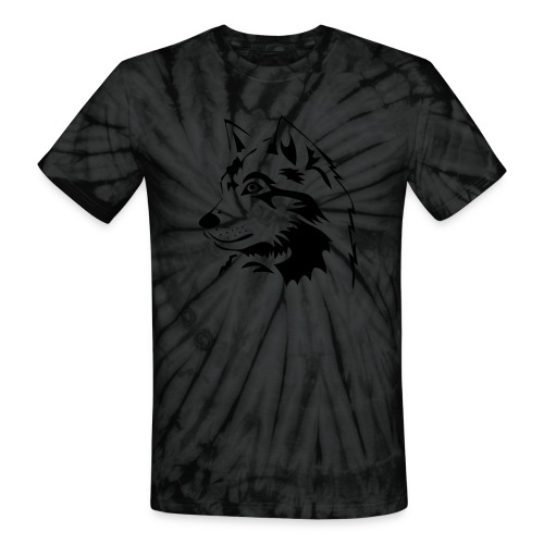 animal t-shirt wolf wolves pack hunter predator howling wild wilderness dog husky malamut - Unisex Tie Dye T-Shirt