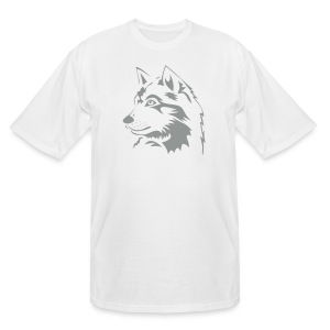 animal t-shirt wolf wolves pack hunter predator howling wild wilderness dog husky malamut - Men's Tall T-Shirt