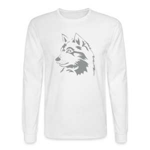 animal t-shirt wolf wolves pack hunter predator howling wild wilderness dog husky malamut - Men's Long Sleeve T-Shirt